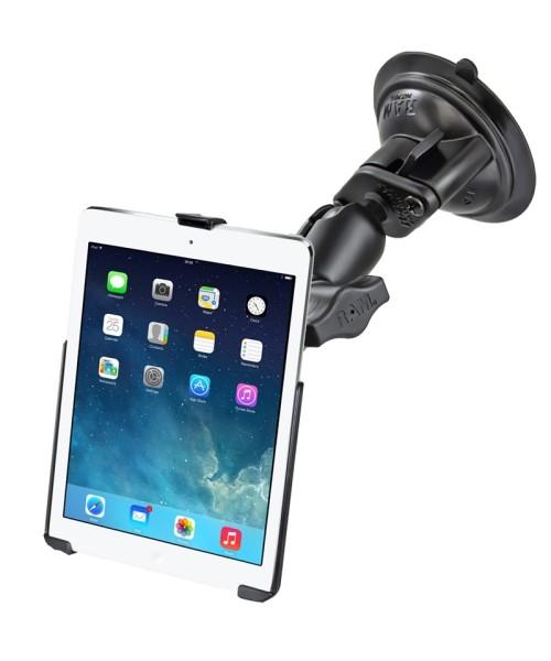 RAM Mounts Saugfusshalterung für Apple iPad Air 1-2 / iPad Pro 9.7 (ohne Schutzhüllen) - mittlerer V