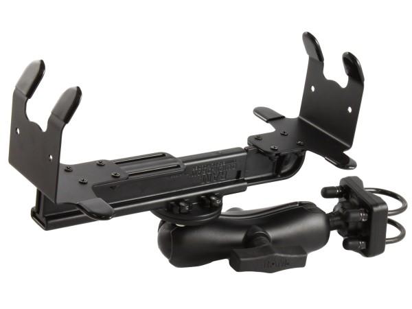 RAM Mounts Drucker-Rohrhalterung für HP 450/470 - Doppel-Klemmschelle, mittlerer Verbindungsarm, run