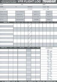 VFR Planungsformular, A5, englische Ausführung