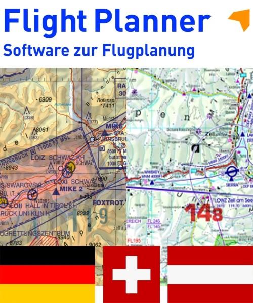 Flight Planner / Sky-Map - Trip-Kit Deutschland, Österreich, Schweiz (ICAO-Karten u. AIP)