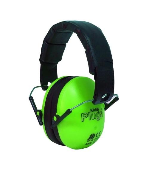 KiddyPlugs - Noise Protection for Children, neon green