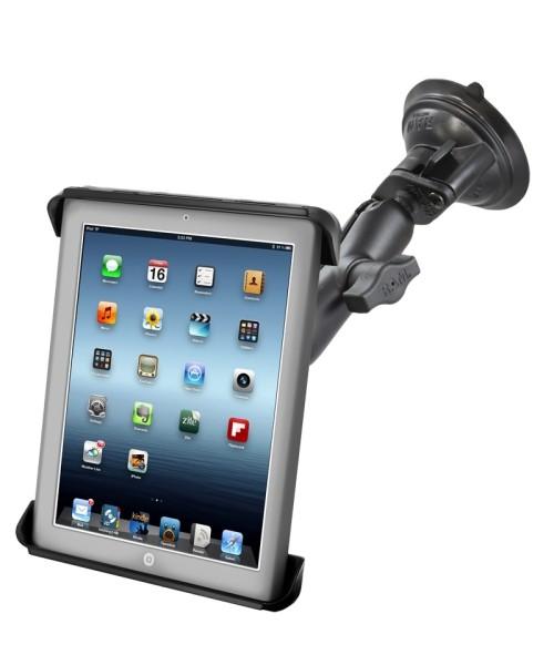 RAM Mounts Saugfuss-Halterung für 10 Zoll Tablets - mittlerer Verbindungsarm, Diamond-Basisplatte (T