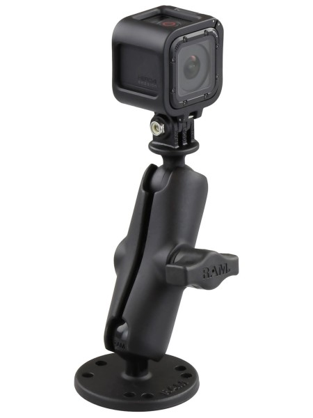 RAM Mounts GoPro Aufbau-Kamerahalterung - mit runder Basisplatte (AMPS), B-Kugel (1 Zoll), im Polybe
