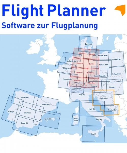 Flight Planner / Sky-Map - DFS Visual 500 Kroatien