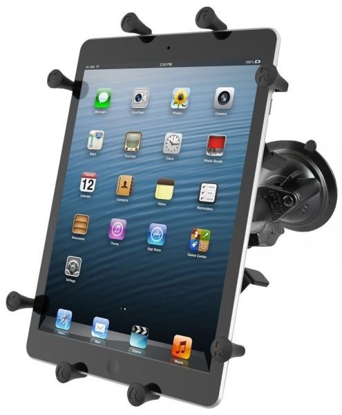 RAM Mounts Saugfusshalterung mit X-Grip Universal Halteklammer für 10 Zoll Tablets - mittlerer Verbi