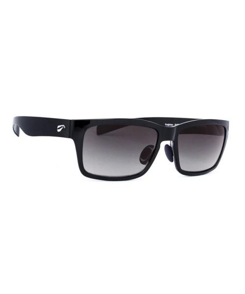 Flying Eyes Sunglasses Kingfisher - Glossy Black Frame, Gradient Grey Lenses