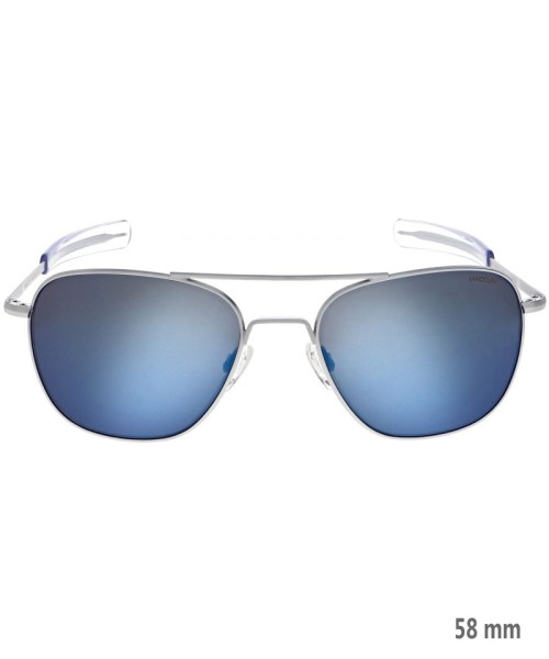 Randolph Aviator Größe 58 (groß) - chrom-matter Rahmen, Gläser Atlantic Blue, Bajonettbügel