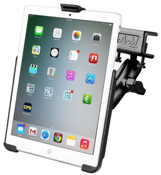 RAM Mounts Panelhalterung für Apple iPad mini 1-3 - mit Panelklammer, B-Kugel (1 Zoll), im Polybeute