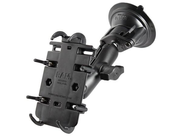 RAM Mounts Universal Saugfuss-Halterung für elektronische Geräte - mittlerer Verbindungsarm, 2x Diam