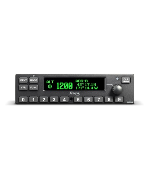 Avidyne AXP340 Mode-S Transponder, schwarz (inkl. Installations-Kit) - ADS-B Out