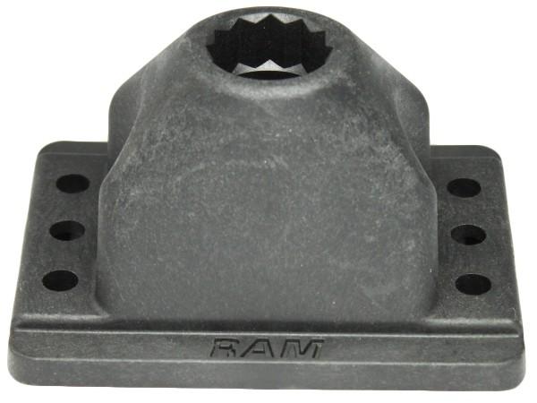 RAM Mounts Bodenbasis für Rod 2000 Angelrutenhalter mit Spline Post Aufnahme
