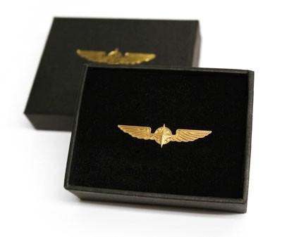 Pilot Wings Medium - Anstecker, goldfarben