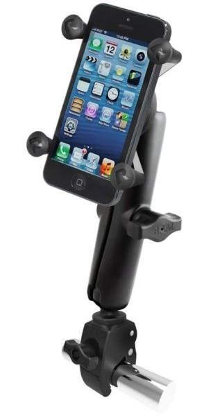 RAM Mounts Tough-Claw-Halterung für Stangen/Rohre mit X-Grip Universal Halteklammer für Smartphones
