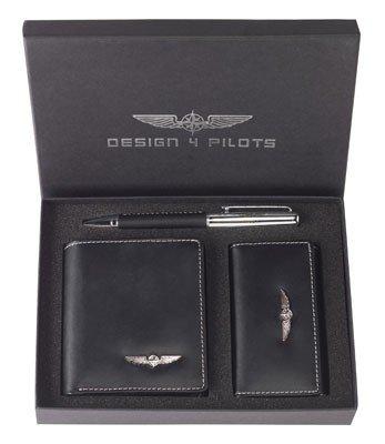 Wallet Set PILOT - Geldbörse, Schlüsseltasche, Kugelschreiber