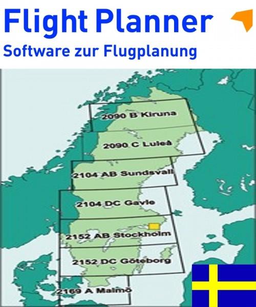 Flight Planner / Sky-Map - ICAO Karten Schweden, komplett (LFV)