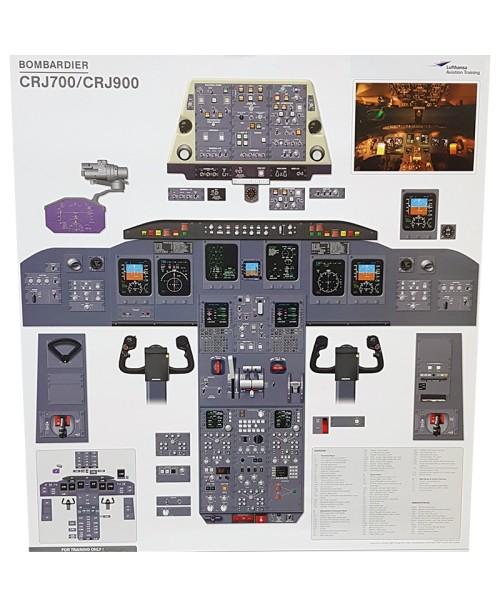 Bombardier CRJ700/900 Cockpit-Trainingsposter
