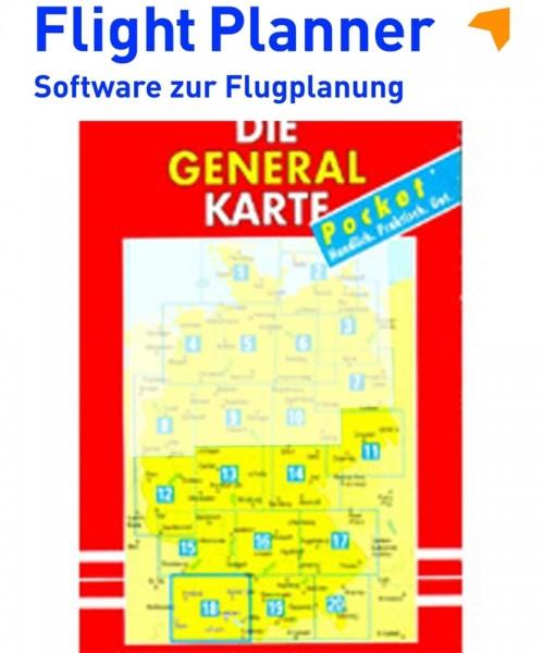Flight Planner / Sky-Map - Deutsche Generalkarte mit Flugsicherungsaufdruck (1:200.000, Blatt 11-20