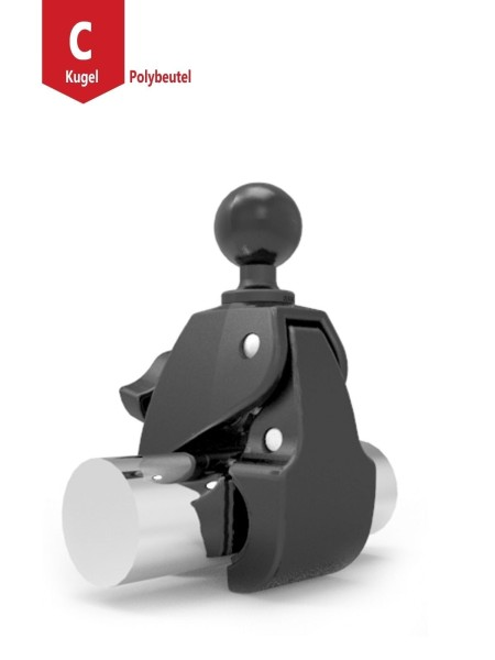 """RAM MOUNT Large Tough-Claw with 1.5"""" Rubber Ball - RAP-401U"""