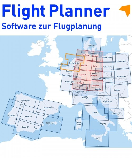 Flight Planner / Sky-Map - DFS Visual 500 Niederlande