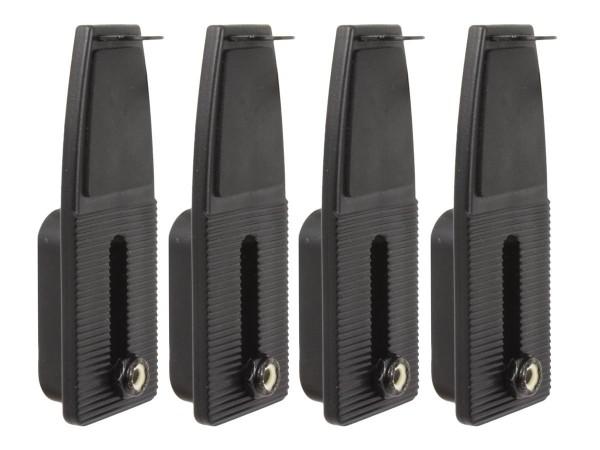 RAM Mounts flache Seitenarme für Tough-Tray Universal Laptop-Halteschalen - 4 Stück inkl. Befestigun