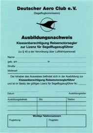 Ausbildungsnachweis TMG - Reisemotorsegler