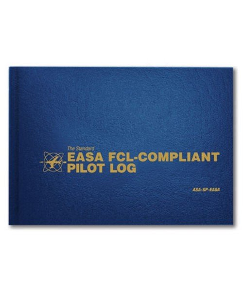 ASA Standard EASA FCL-Compliant Pilot Log - Hardcover, approx. 100 pages