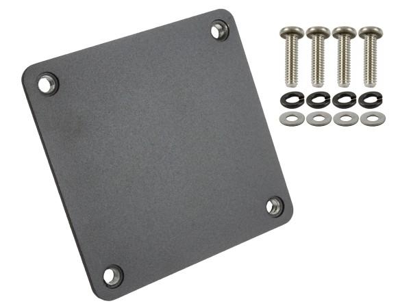 RAM Mounts quadratische Gegenplatte für Halterungen - 91,4 x 91,4 mm, Schrauben-Set, im Polybeutel