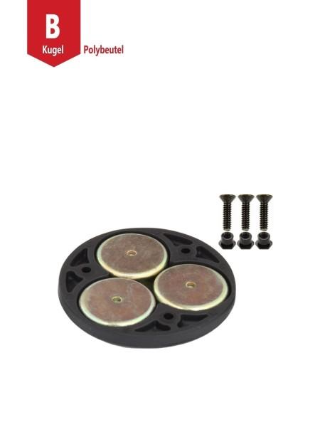 RAM Mounts Verbundstoff Magnet-Basis für runde Basisplatten - 3 Magnete, Schrauben-Set, im Polybeute