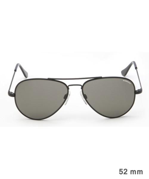 Randolph Concorde Size 52 (small) - black frame, neutral grey lenses, golf temples