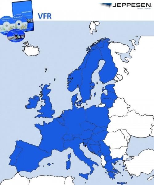 JeppView VFR - Europa (JVVEU) inkl. Berichtigungsdienst