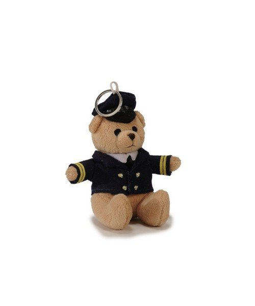 Pilot Bear with Uniform and Cap - approx. 10 cm, Plush, incl. Key Ring