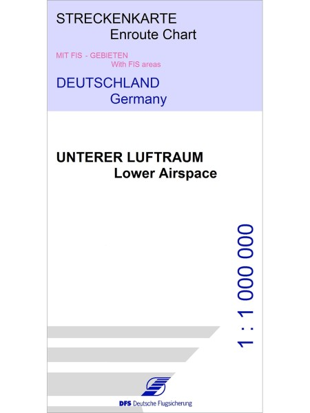 IFR Enroute Chart Germany - Lower Airspace, FIS Areas / MVA (3DEC 2020), 1:1.000.000