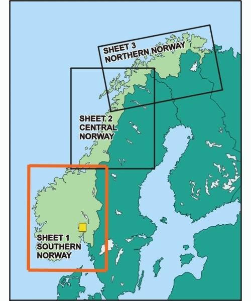 Norwegen ICAO Karte - Blatt Süd, Papier ohne Folie, gefaltet