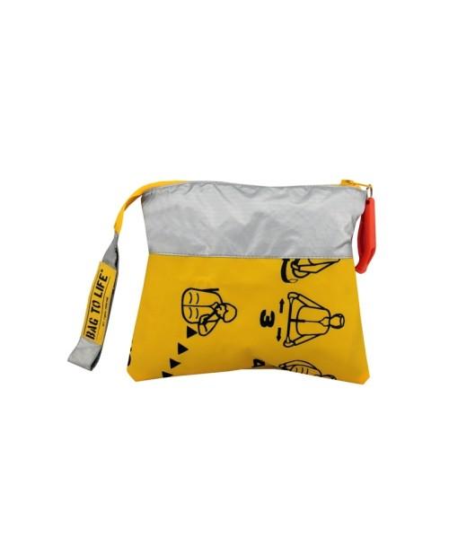 BAG TO LIFE Amenity Kit - Cosmetic Bag, yellow/silver