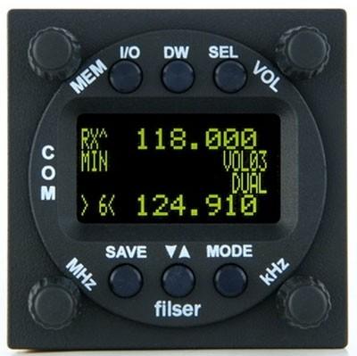 f.u.n.k.e. VHF Flugfunkgerät ATR833-II-OLED - 57 mm Rundgehäuse