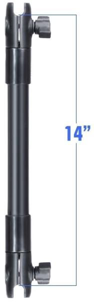RAM Mounts Verbundstoff-Verlängerungsarm mit B-Kugel-Aufnahmen (1 Zoll) - ca. 350 mm lang, im Polybe