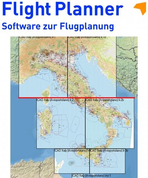 Flight Planner / Sky-Map - Aerotouring VFR Flight Chart Italy (complete)