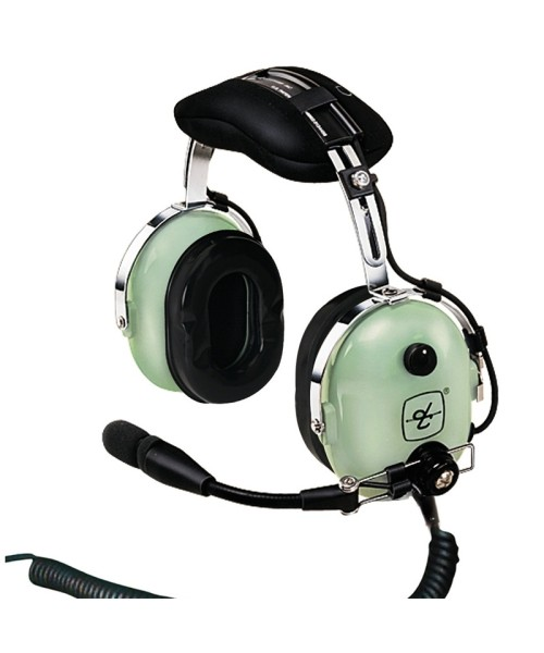 David Clark H10-13H, U-174/U plug, coiled cord - Helicopter version (without headset bag)