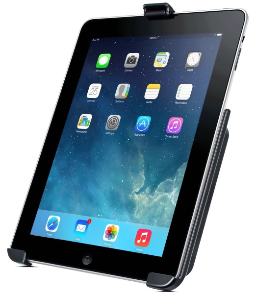 RAM Mounts Gerätehalteschale für Apple iPad 2-4 (ohne Schutzhüllen/-gehäuse) - AMPS-Anbindung, Schra