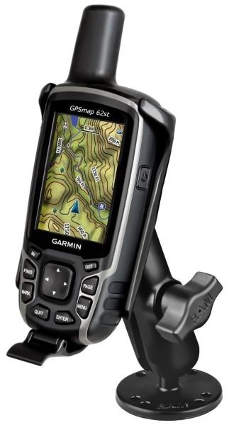 RAM MOUNT Flat Surface Mount Garmin GPSMAP 62/64, medium arm - RAM-B-138-GA41U