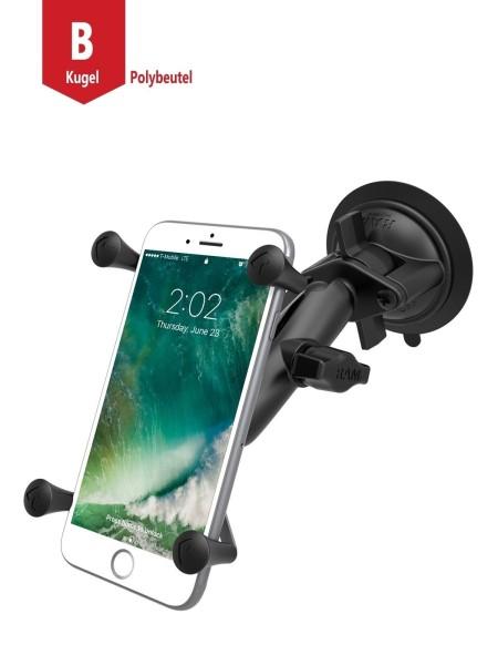 RAM Mounts Saugfusshalterung mit X-Grip Universal Halteklammer für große Smartphones (Phablets) - mi