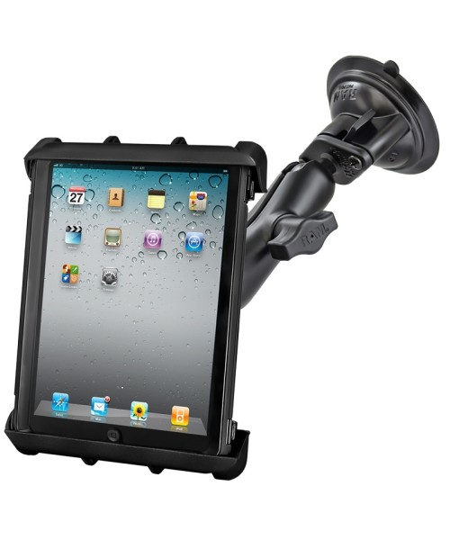 """RAM MOUNTS Suction Cup Mount with universal Tab-Tite Cradle for 10"""" Tablets incl. Heavy Duty Cases"""