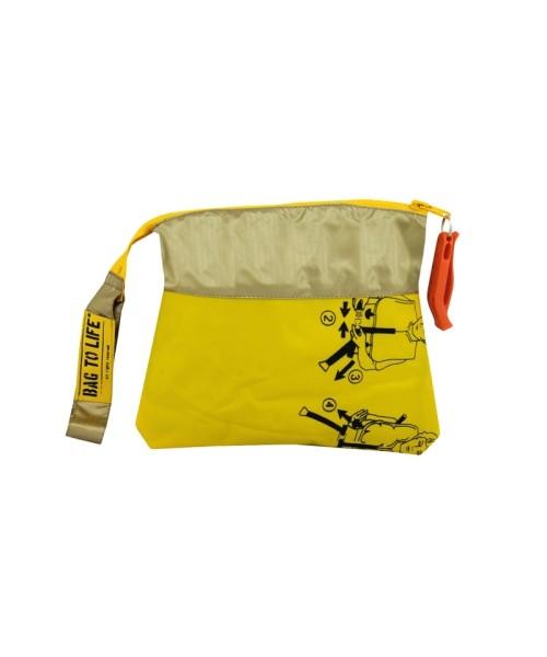 BAG TO LIFE Amenity Kit - Cosmetic Bag, yellow/golden