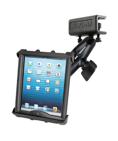 RAM Mounts Panelhalterung mit Universal Tab-Tite Halteschale (10 Zoll Tablets) - auch mit Schutzhüll