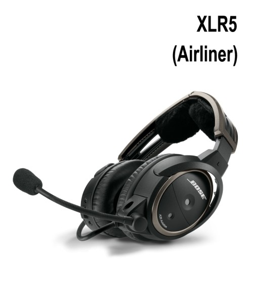 BOSE A20 Aviation Headset - XLR5 Plug (Airliner), Straight Cord