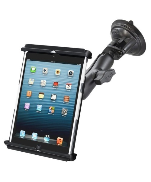 RAM MOUNT Twist Lock Suction Cup Mount Tab-Tite for Apple iPad mini 1-4 (with case/sleeve/skin) - RAM-B-166-TAB12U