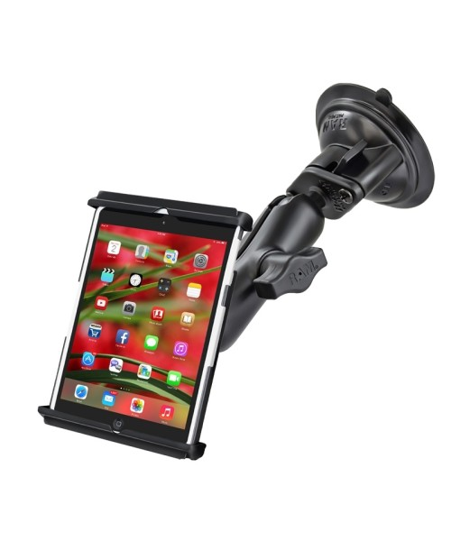 "RAM MOUNTS Suction Cup Mount with Universal Tab-Tite Cradle for 7"" Tablets incl. thin Sleeves"