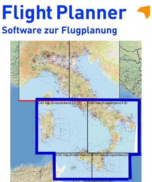 Flight Planner / Sky-Map - Aerotouring VFR Flight Chart Italy South/Islands
