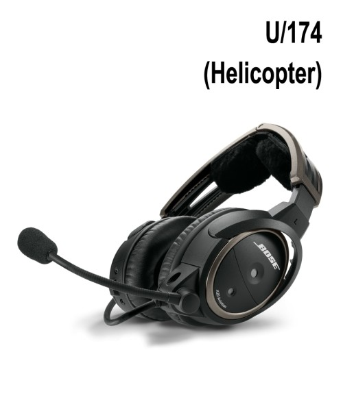BOSE A20 Aviation Headset - U/174-Stecker (Helicopter), gewendeltes Kabel, hohe Impedanz