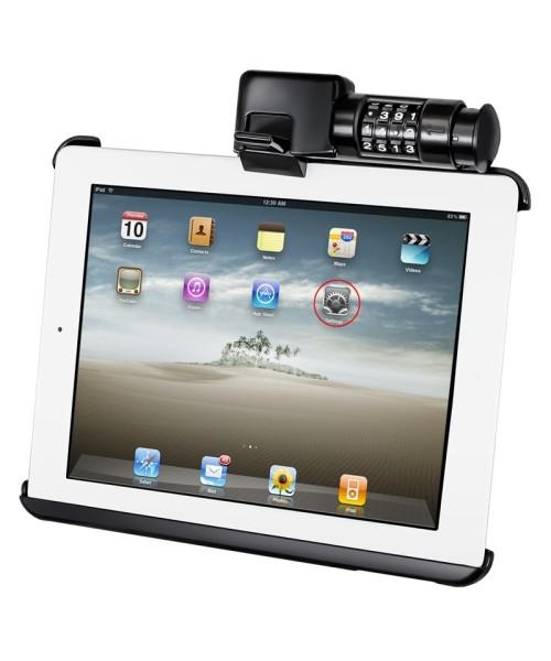 RAM Mounts Gerätehalteschale für Apple iPad 1-4 (ohne Schutzhülle/-gehäuse) - mit Zahlenschloss, AMP